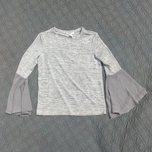 Silver Bell Sleeved Top